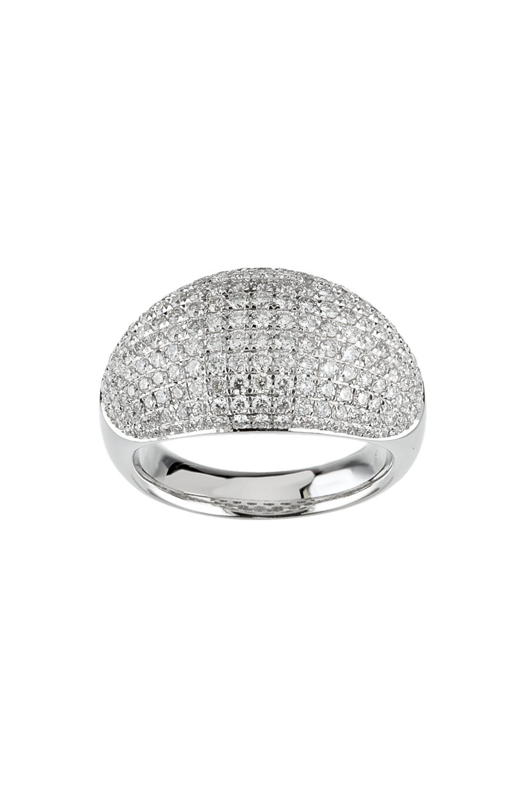 Dámský designový prsten s diamanty