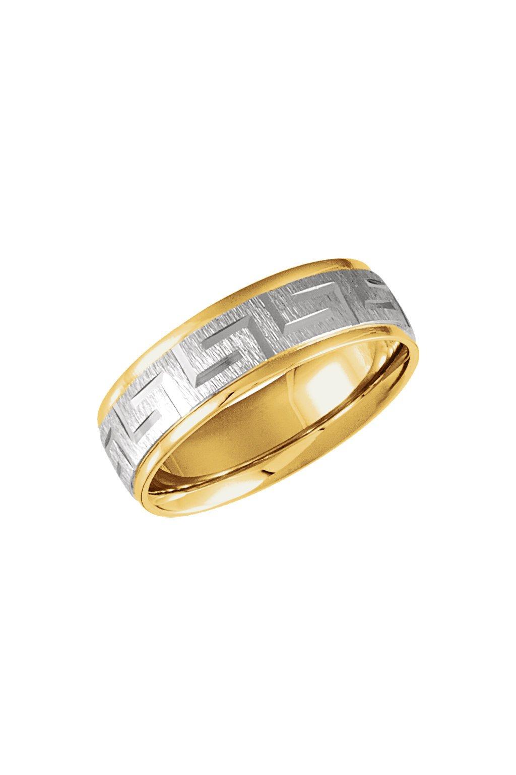 Snubní prsten dvoubarevný
