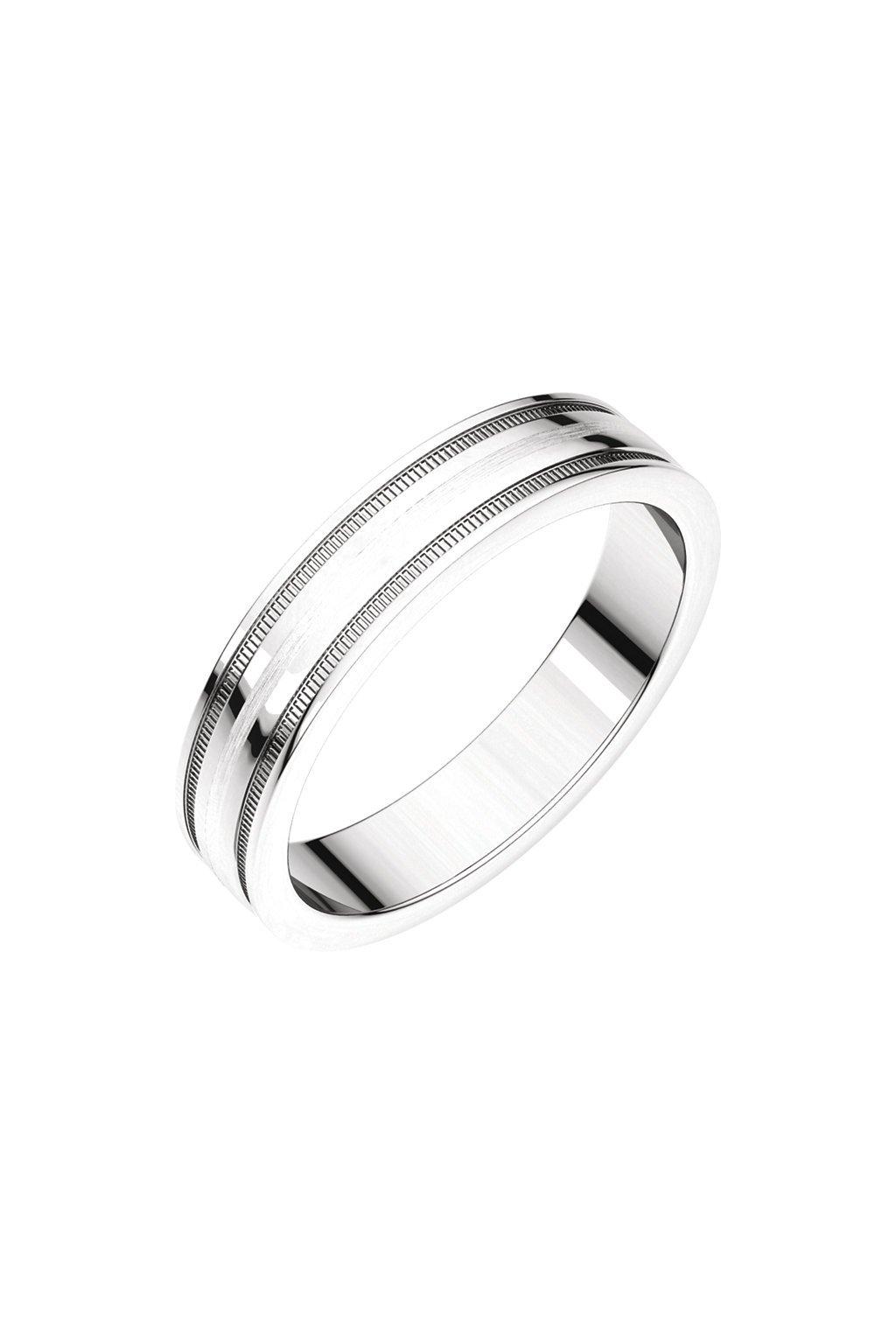 Snubní prsteny Satin Milgrain