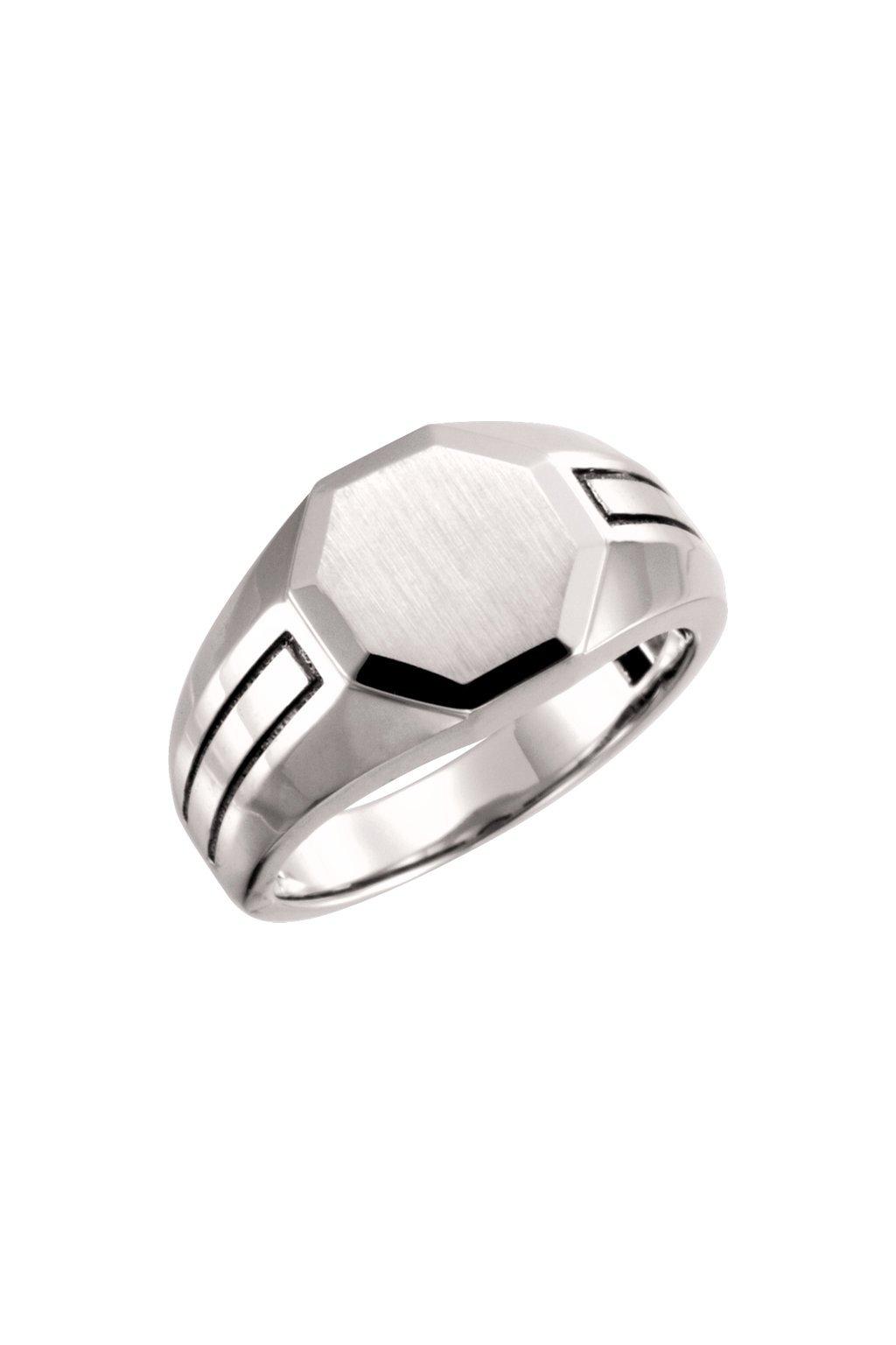 Pánský pečetní prsten OCTAGON