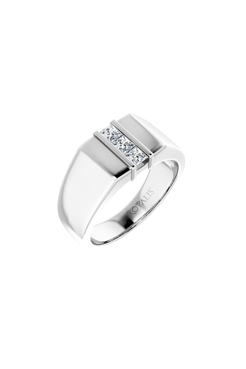 Pánský prsten s laboratorními diamanty