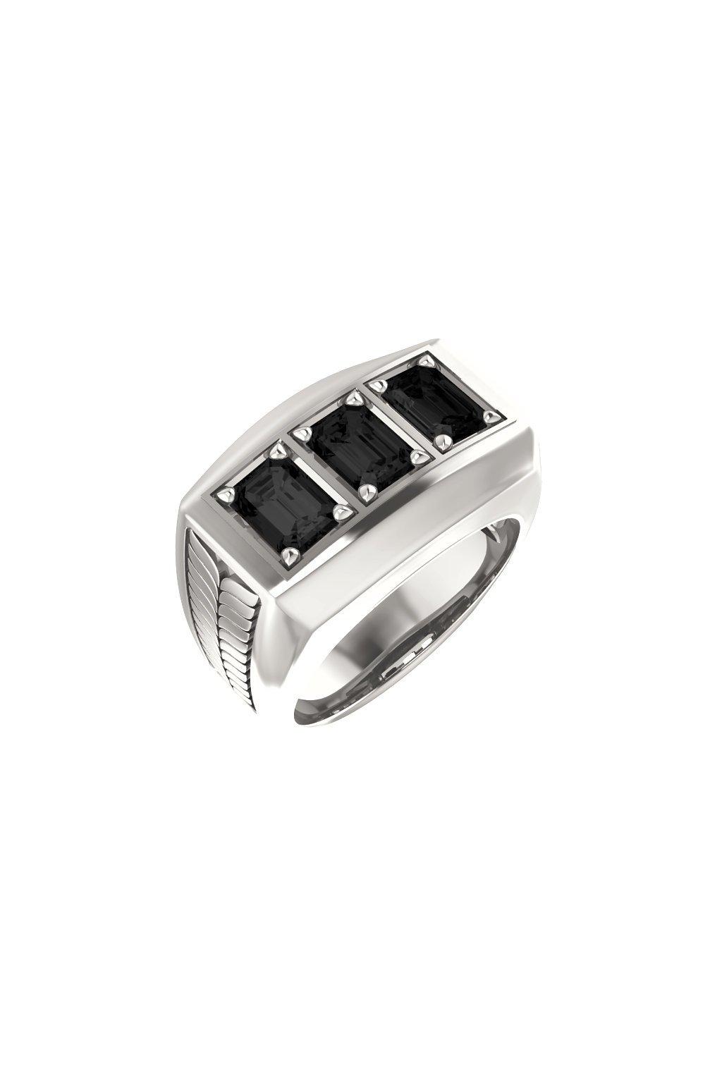 Pánský prsten s Onyxy