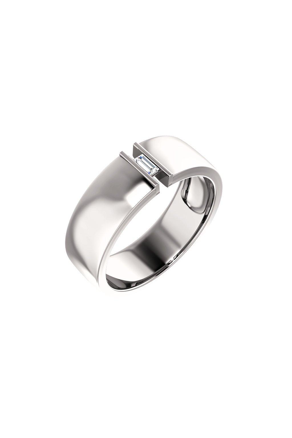 Pánský snubní prsten Royalis Exclusive - Baguette