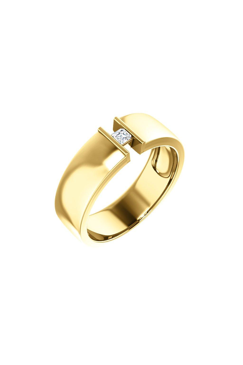 Pánský snubní prsten Royalis Exclusive - Asscher