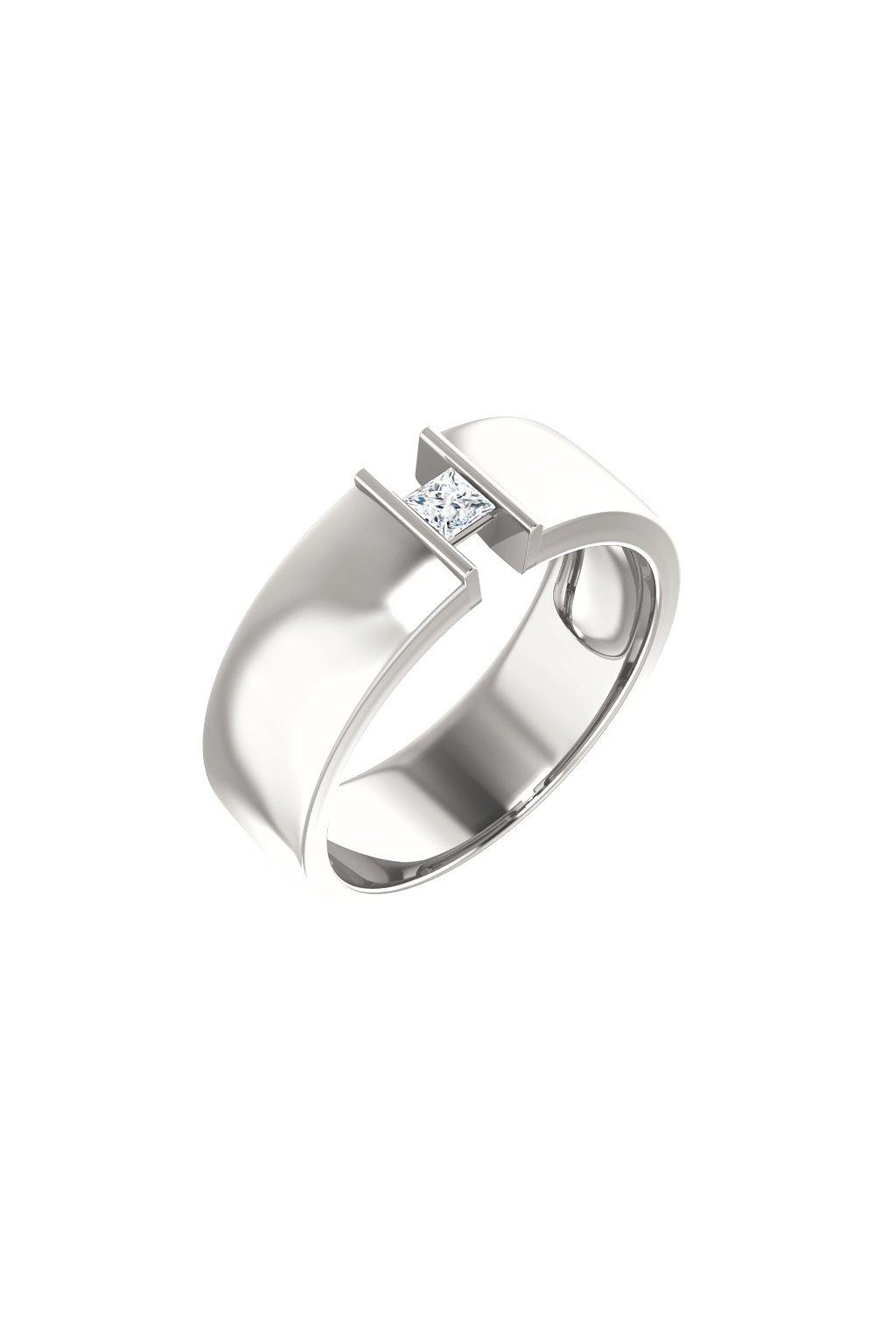 Pánský snubní prsten Royalis Exclusive - Square