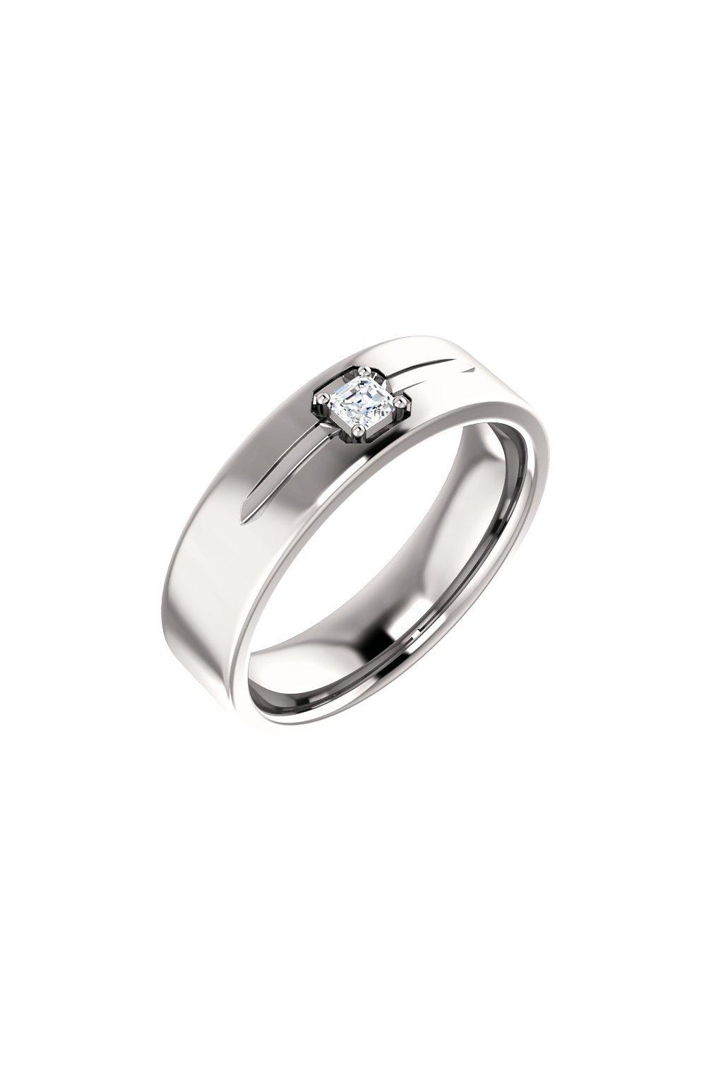 Pánský snubní prsten Royalis Excellency - Asscher
