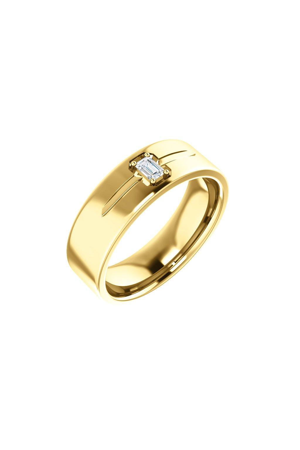 Pánský snubní prsten Royalis Excellency - Emerald