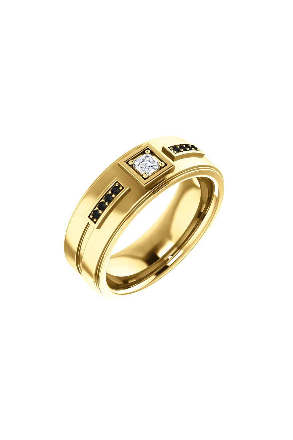 Pánský snubní prsten Royalis Lewis