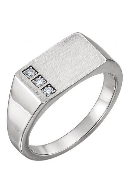 Pánský diamantový prsten TRINITY INDEPENDENCE