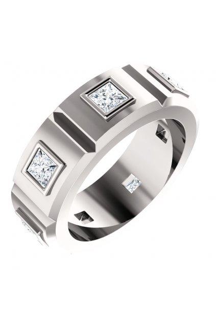 Pánský prsten Royalis Windsor s diamanty