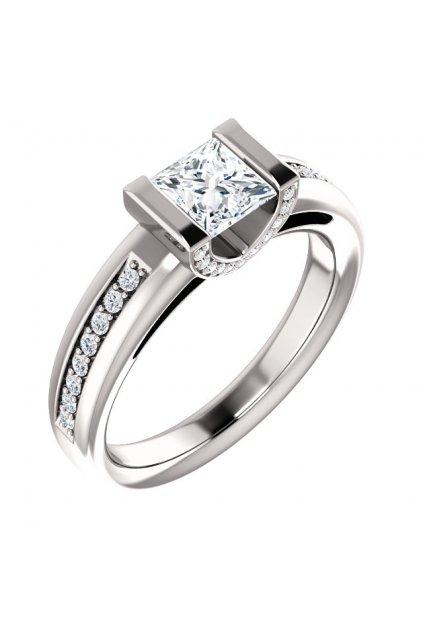 Zásnubní prsten s velkým certifikovaným diamantem