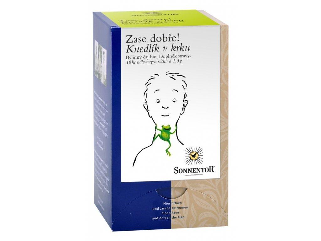 Knedlík v krku bylinný čaj bio
