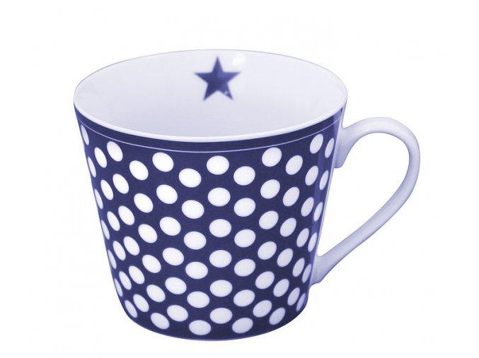 Modrobílý porcelánový hrnek + 10 ks čajů Royal T- Stick