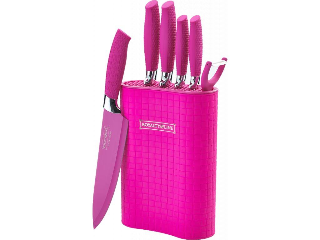 Sada 5 nožů, škrabky a stojanu RL-6MSTRO potažených antiadhezní vrstvou