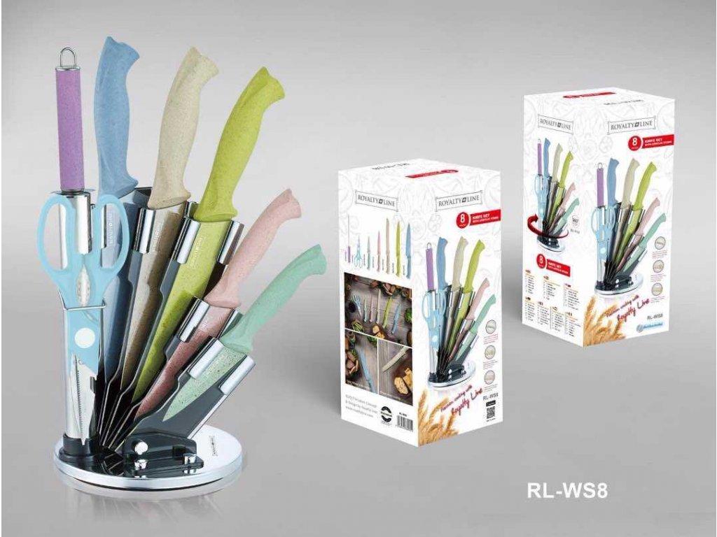 8-dílná sada nožů, nůžek a ocílky RL-WS8 s antiadhezní vrstvou