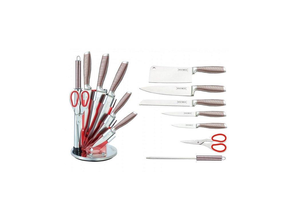 8-dílná sada ocelových nožů, nůžek a ocílky RL-KSS804N