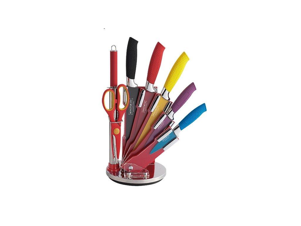Sada 5 nožů + ocílka + nůžky ve stojanu Royalty Line RL-COL8-W   ocelové nože   ocelový nůž