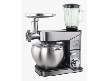 Kuchyňský robot Royalty Line RL-PKM2500BG 3v1 / 10 l / stříbrný / CELOKOVOVÝ
