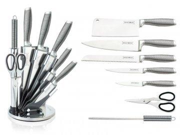 8-dílná sada ocelových nožů, nůžek a ocílky RL-KSS700N