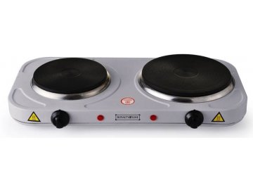 Elektrický dvouplotýnkový vařič Royalty Line DKP-2500.15 - 1000+1500W, Stříbrný