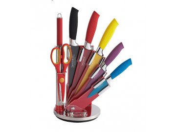 Sada 5 nožů + ocílka + nůžky ve stojanu Royalty Line RL-COL8-W | ocelové nože | ocelový nůž