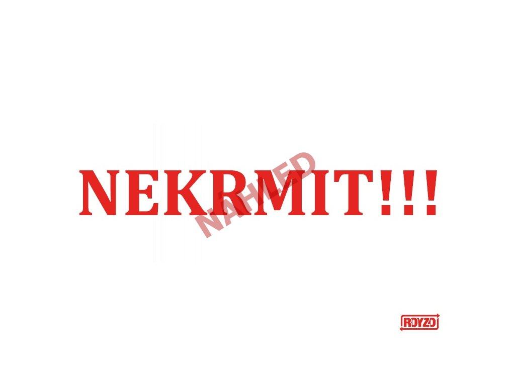Výstražná vtipná samolepící cedule Nekrmit