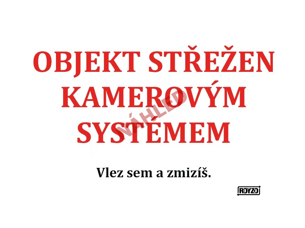 A Objekt strezen kamer systemem text 2020
