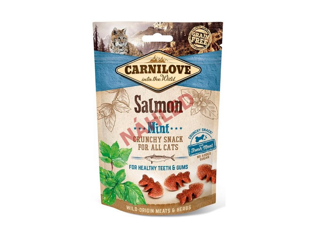 Carnilove Cat Crunchy Snack salmon with mint 50g