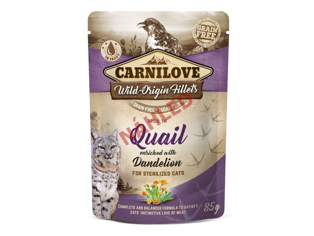 Carnilove quail with dandelion 85g