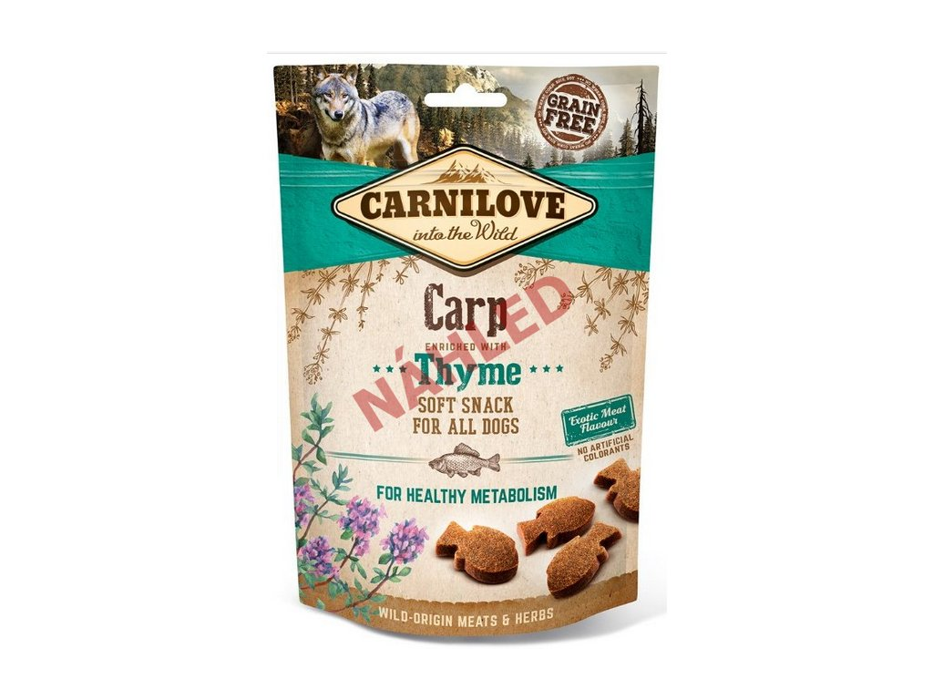 Carnilove Dog Soft Snack carp with thyme 200g