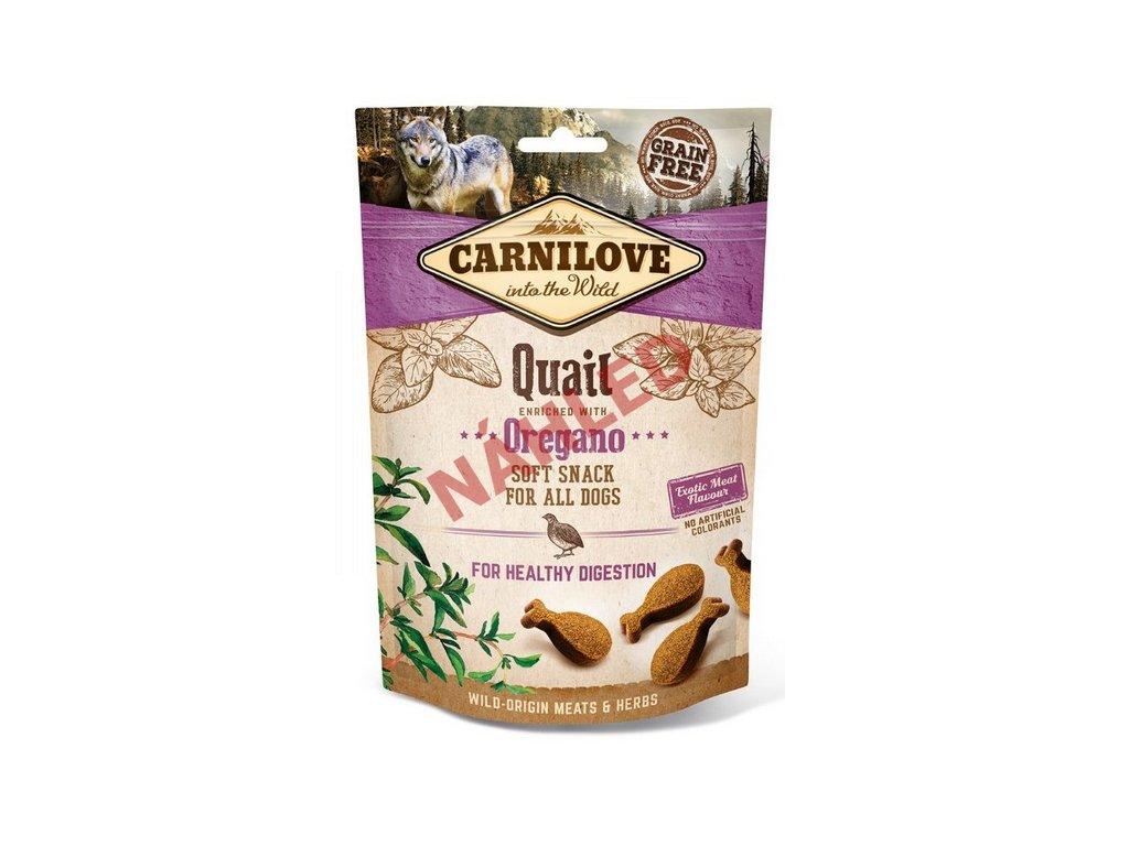 Carnilove Dog Soft Snack quail with oregano 200g