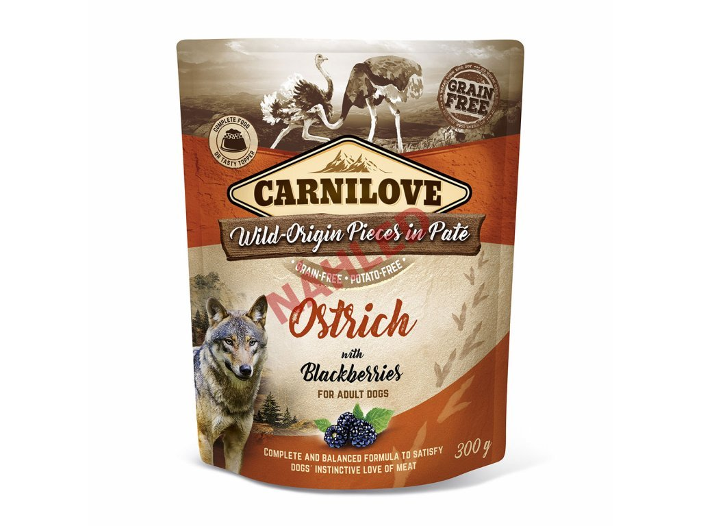Kapsa Carnilove Ostrich with Blackberries 300g