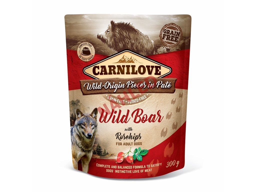 Kapsa Carnilove Wild Boar with Rosehips 300g