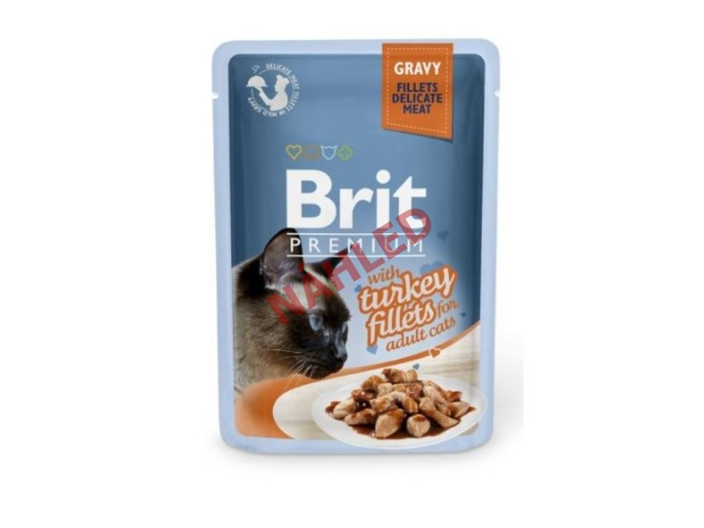Brit Premium Cat Delicate Fillets in Gravy with Turkey 85g
