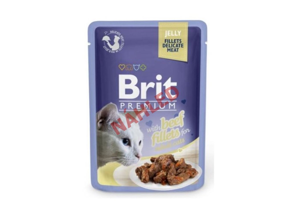 Brit Premium Cat Delicate Fillets in Jelly with Beef 85g