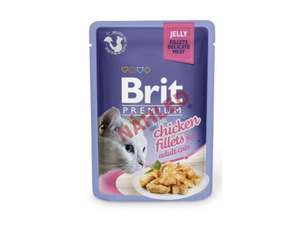 Brit Premium Cat Delicate Fillets in Jelly with Chicken 85g