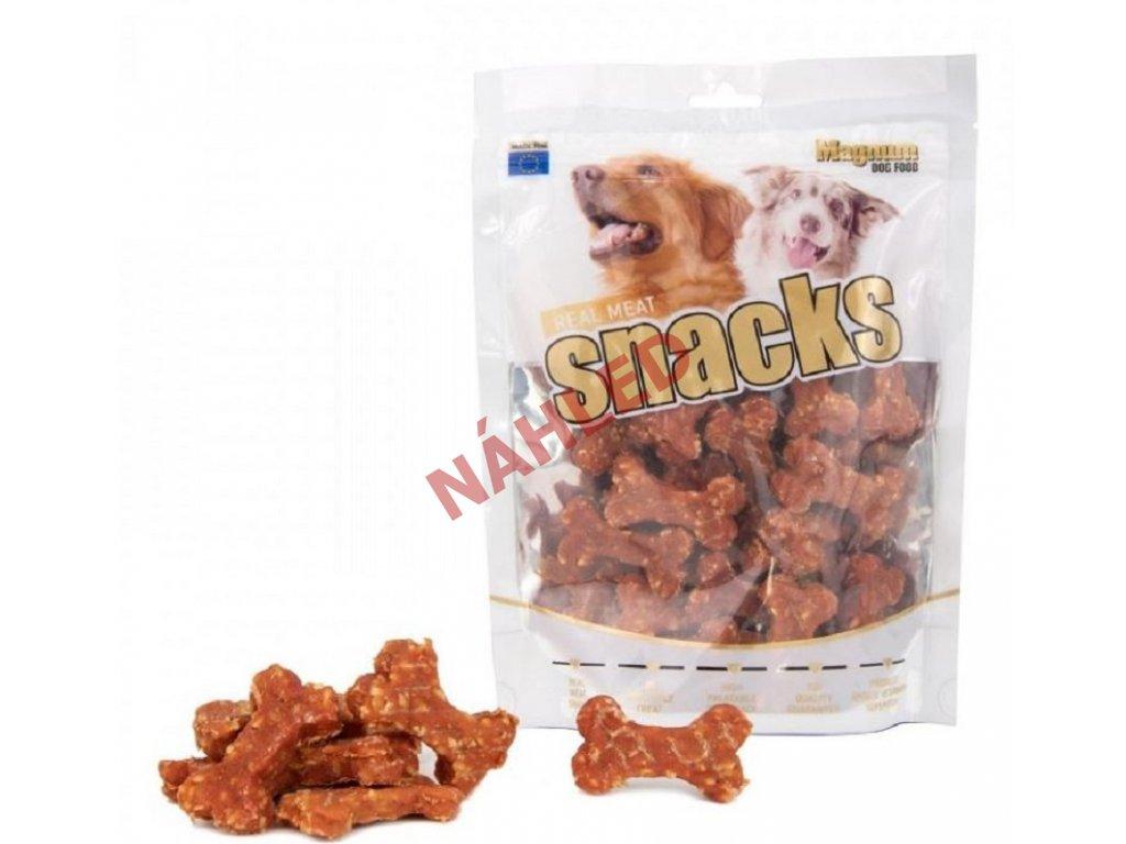 Magnum sušené maso pro psy - kachní s rýží mini kostičky 250g