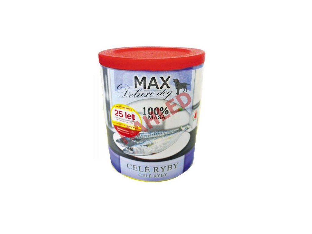 Max deluxe dog celé ryby 800g