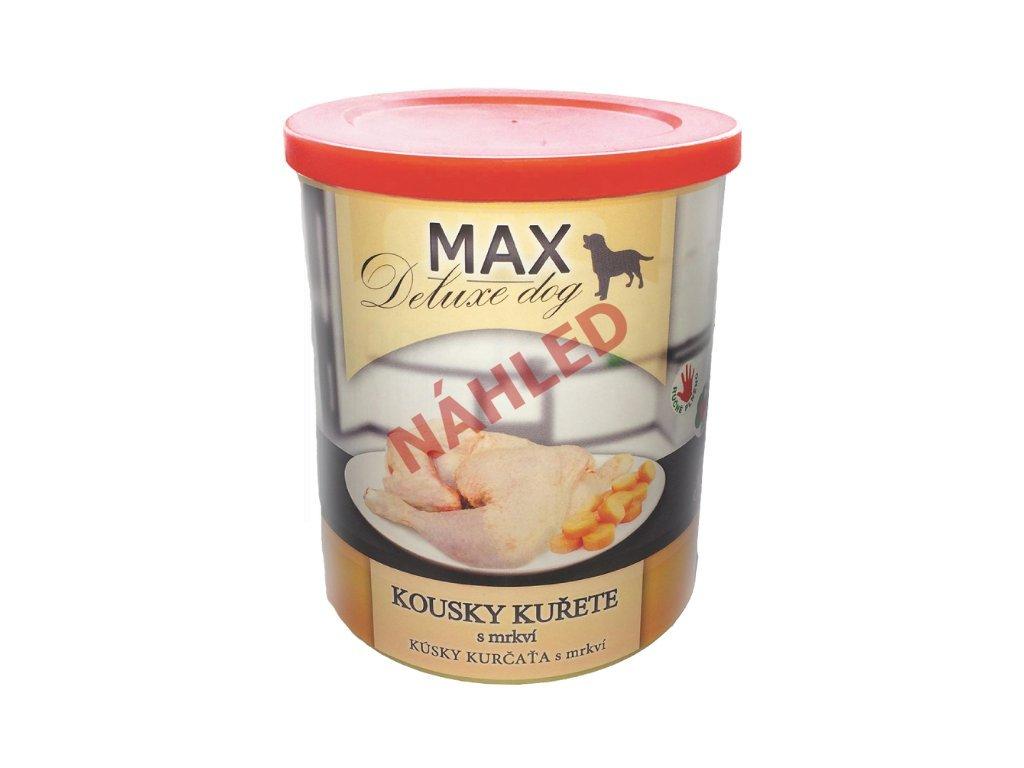 Max deluxe dog kuře s mrkví 400g