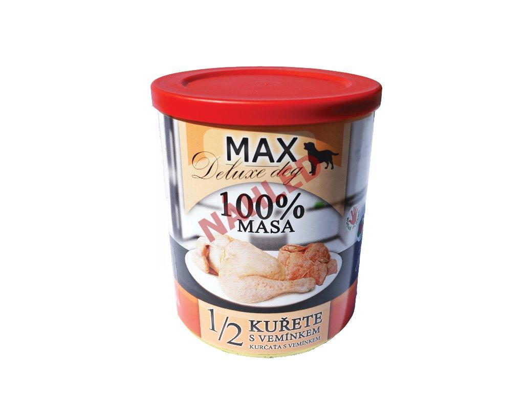 MAX deluxe Dog polovina kuřete s vemínkem 800g