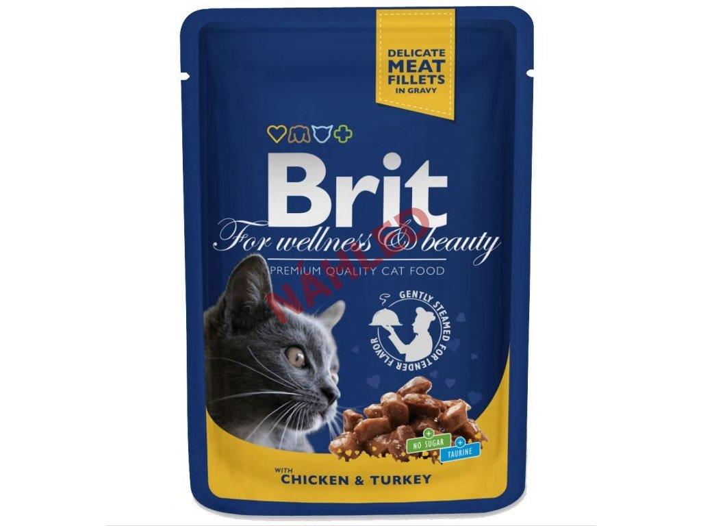 Brit Premim Cat Pouches s kuřecím a krůtou 100g
