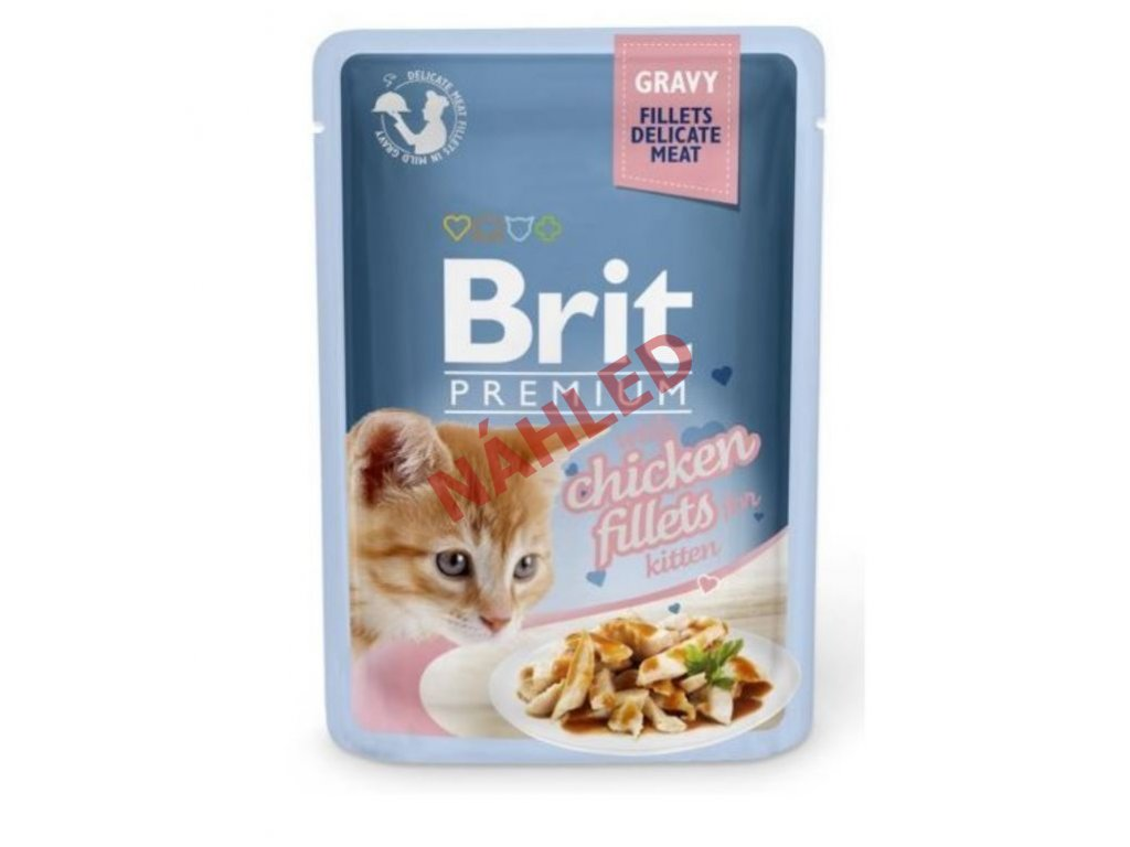 Brit Premium Cat Delicate Fillets in Gravy with Chicken for Kitten 85g