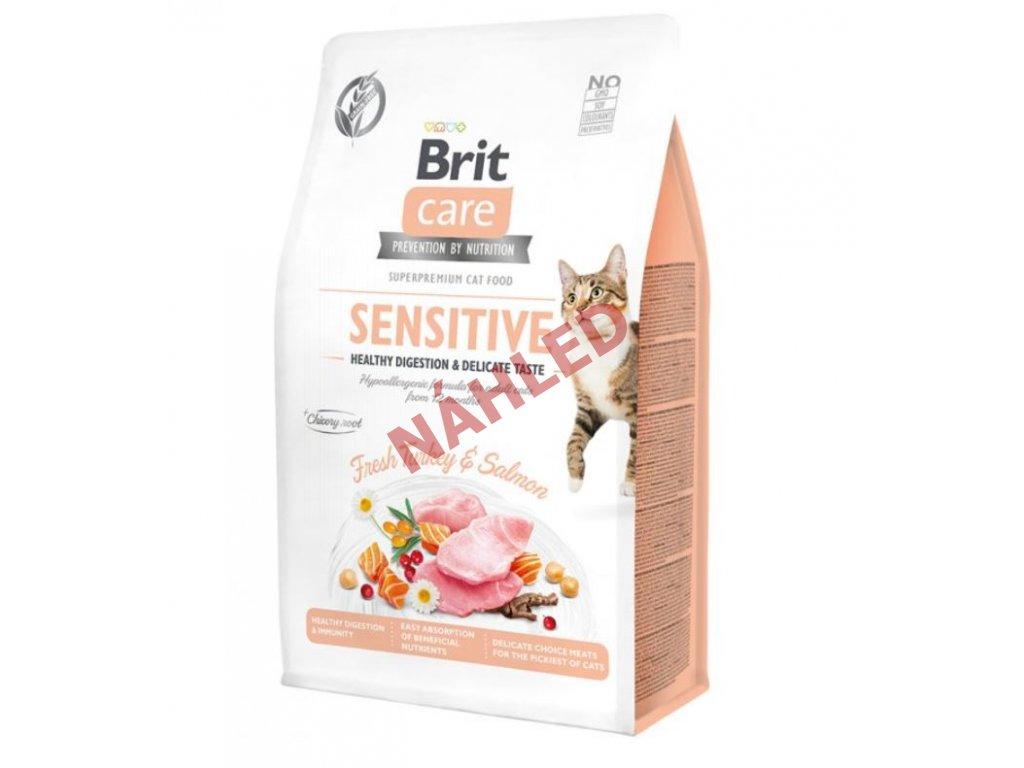 Brit Care Cat Grain-Free Sensitive Healthy Digestion & Delicate Taste 400g