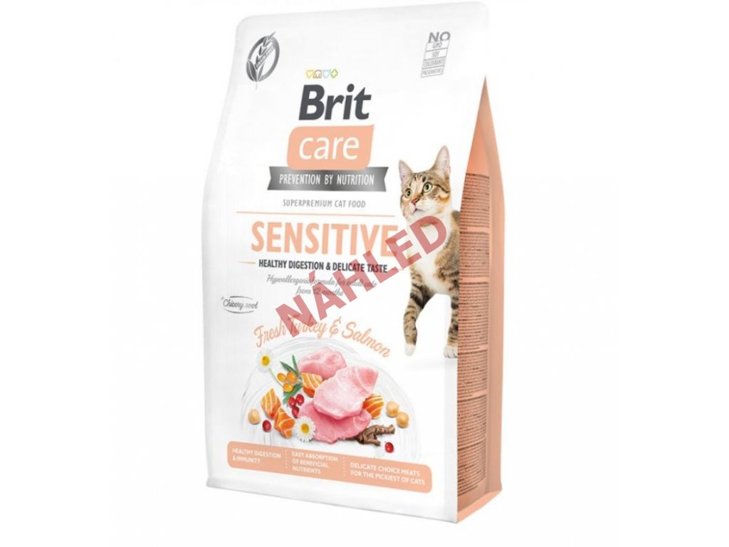 Brit Care Cat Grain-Free Sensitive Healthy Digestion & Delicate Taste 2kg