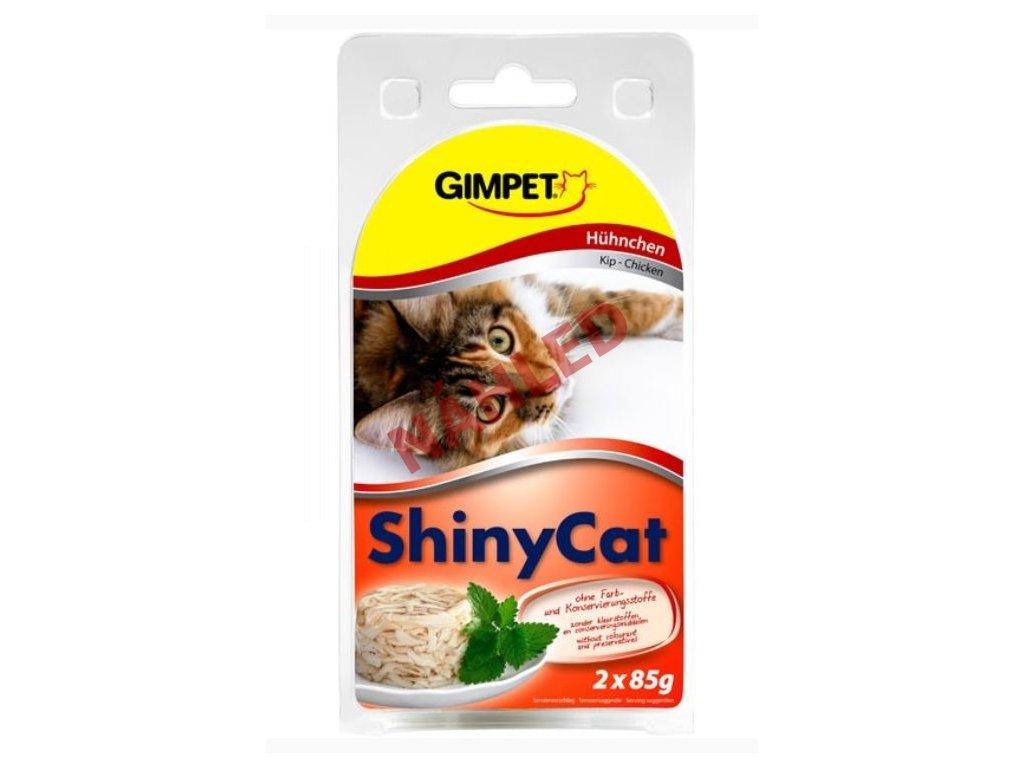 Gimpet konzerva pro kočky ShinyCat kuře 2x70g