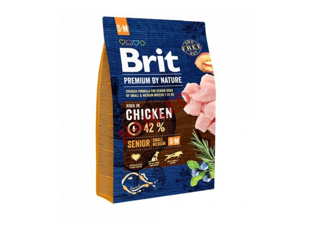 Brit Premium by Nature senior chicken S+M 3 kg