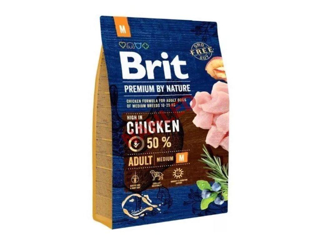 Brit Premium by Nature adult chicken M 3 kg