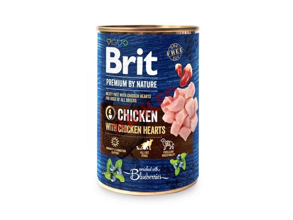 Brit premium dog by Nature chicken/hearts 400g