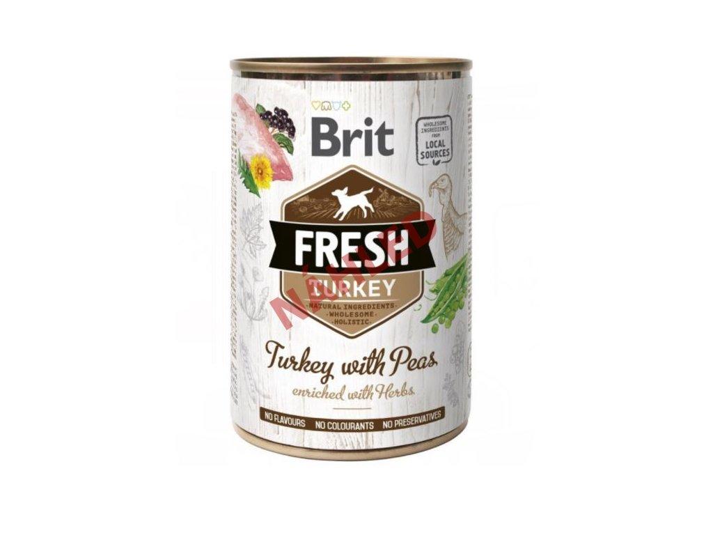 Brit fresh Turkey with peas 400g