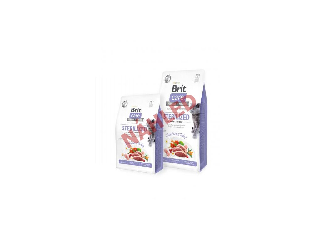 brit care cat grain free sterilised and weight control r